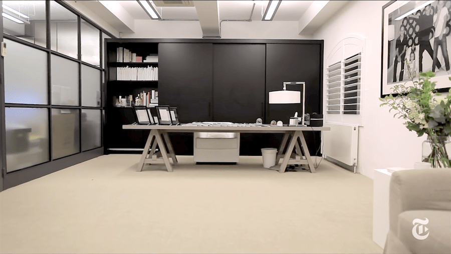 Victoria Beckham's office : pic @The New York Times-min