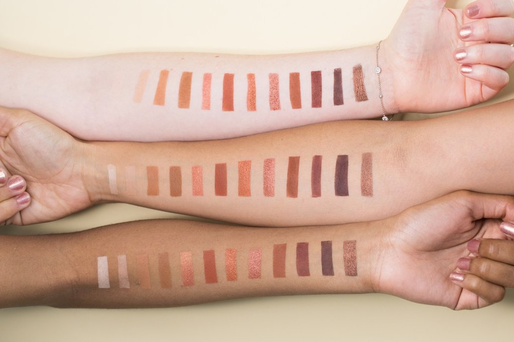 naked heat urban decay swatches