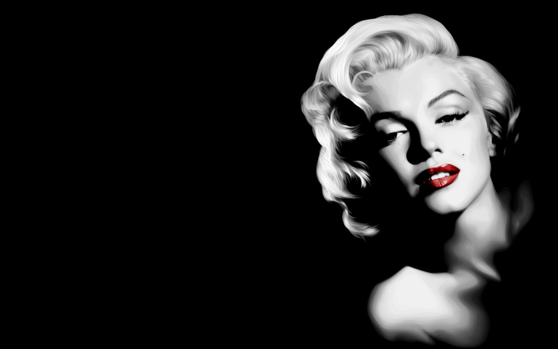 Marilyn-Monroe-LIPSTICK-red
